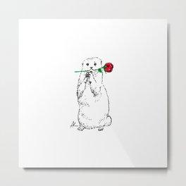 Otterly Romantic Metal Print