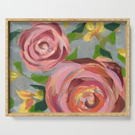 Platinum Rose Serving Tray