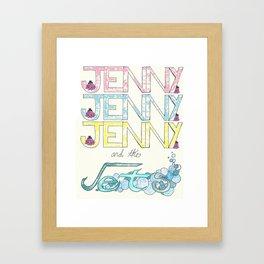 For Jenny Framed Art Print