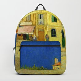 """Vincent Van Gogh """"The yellow house ('The street')"""" Backpack"""