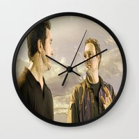 stargate Wall Clocks featuring Goodbye Carson by Samy