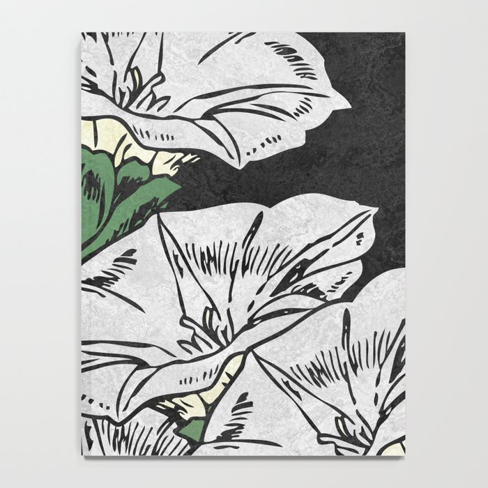 MARBLE FLOWERS (abstract) Notebook
