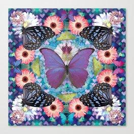 queen of the butterflies Canvas Print