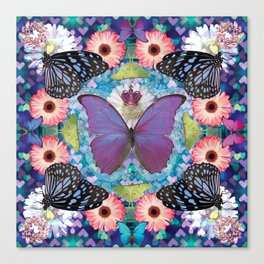queen of the butterflies Canvas Print