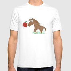 Horse Food White MEDIUM Mens Fitted Tee