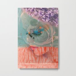 lavender, blue & peach portrait Metal Print