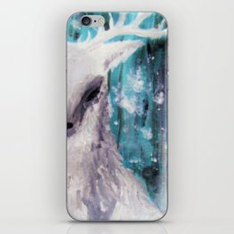 Stag in Snow 1 iPhone Skin