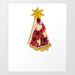 Christmas Pizza Merry Crustmas Art Print