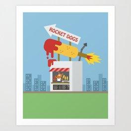 Snack Shacks #3 - Rocket Dogs Art Print