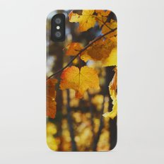 autumn leaves Slim Case iPhone X