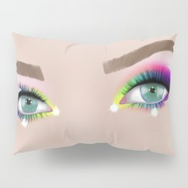 Rainbow Make-up Pillow Sham