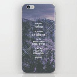 Deuteronomy 31:6 iPhone Skin