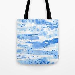 Landscape in blue Tote Bag