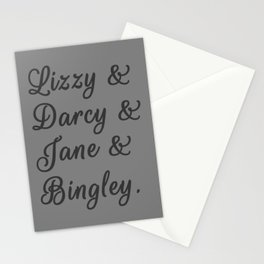 The Pride and Prejudice Couples I Stationery Cards