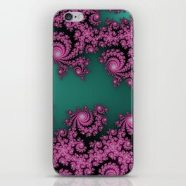 Fractal in Dark Pink and Green iPhone Skin