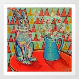 Horace the house-broken hare Art Print