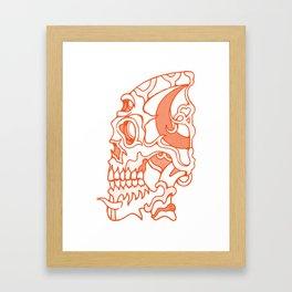 Orange death mask Framed Art Print