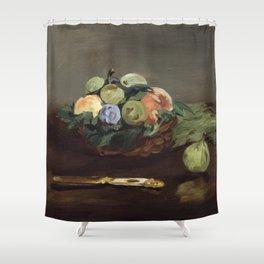 Edouard Manet - Basket of Fruit Shower Curtain