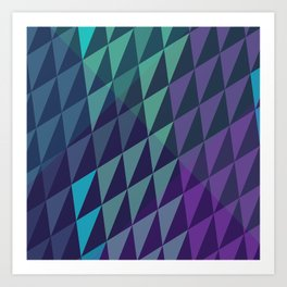 Square Dusk Crystals Art Print