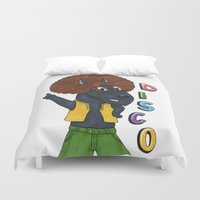 old school Duvet Covers featuring Old school by Lisidza's art