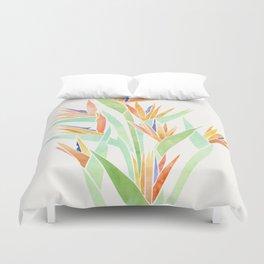 Birds of Paradise ~ tropical bouquet Duvet Cover
