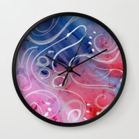 jazz Wall Clocks featuring Jazz by Angelina Yvette