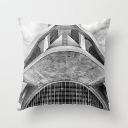 City of Arts and Sciences VII by CALATRAVA architect Throw Pillow