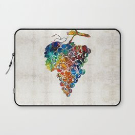 Colorful Grapes Fruit Art by Sharon Cummings Laptop Sleeve