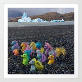 My Little Sea Ponies in Patagonia Art Print