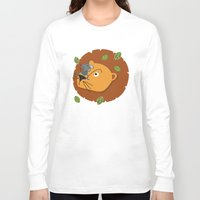 leon Long Sleeve T-shirts featuring Mouse&Leon by Lara Savoia