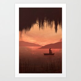 The Fishing Trip Art Print