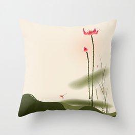 Oriental Lotus 002 Throw Pillow