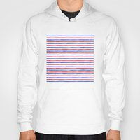 stripes Hoodies featuring Stripes.  by Elena O'Neill