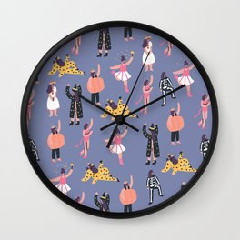 Funny Halloween Girls Wall Clock