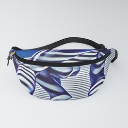 9244-KMA_5206 Sexy Blue Striped Nude Bending Down Looking Back Fanny Pack