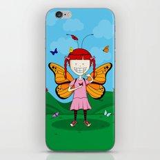 i heart butterflies iPhone Skin