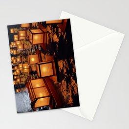 Japanese floating lantern Stationery Cards
