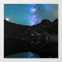 Milky Way Mountain Canvas Print