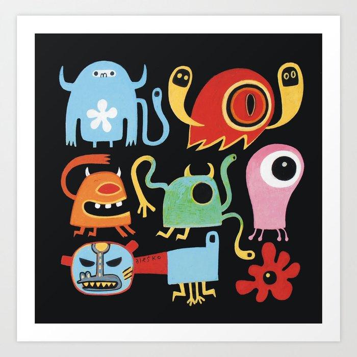 Petites créatures Art Print
