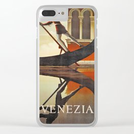 Venice history, gondola Clear iPhone Case
