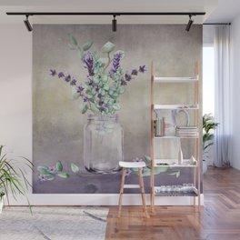 Country Lavender and Eucalyptus Wall Mural