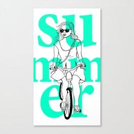Summer Cycle Canvas Print