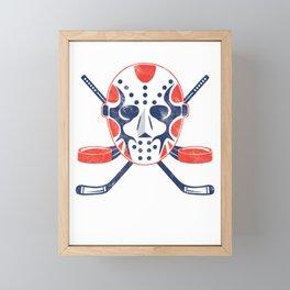 Hockey Mask Winter Sports Ice Hockey Player Gift Framed Mini Art Print