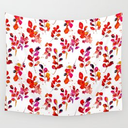 Watercolor fall robinia leaves Wall Tapestry