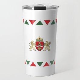 flag of budapest Travel Mug