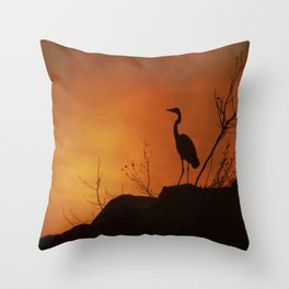 Night silhouette Throw Pillow