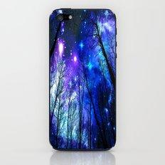 black trees purple blue space iPhone & iPod Skin