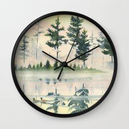 Morning Fog 2 Wall Clock