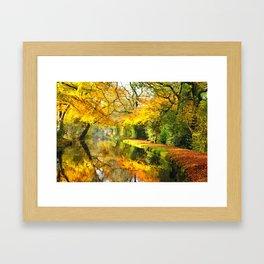 Autumn Canal Framed Art Print