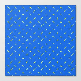 Guns Pattern Blue/Yellow Canvas Print